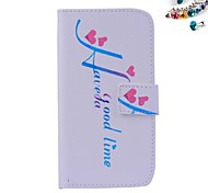 Letters Heart Pattern PU leather Full Body Case dustproof plug with Card Slot and Stand for Motorola G2
