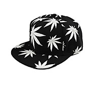 Fashion Leaves Print Luminous Glow Baseball Cap
