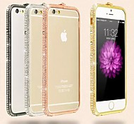 4.7 Inch High Quality Metal Rhinestone Crown Bumper Frame for iPhone 6 (Assorted Colors)