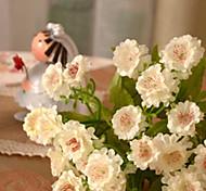 set di 3 mini margherite di colore bianco