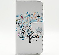 The Beauty of The Tree Pattern PU Leather Full Body Case Cover with Stand and Card Holder for iPhone 6