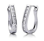 New Beauty White Sapphire Earrings For Women With 10KT White Gold Filled 2 pcs/pair Free Shipping