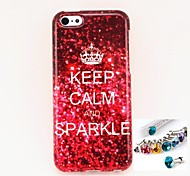 Keep Pattern TPU  Back Cover Case and Dust plug for iPhone 5C