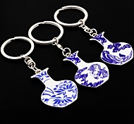 China Wind Blue And White Characteristic Small Gifts Car Keychain