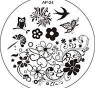 Nail Art Stamp Stamping Image Template Plate AP Series NO.24
