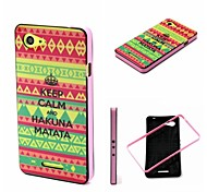 2-in-1 Bumblebee Keep Calm HAKUNA MATATA Pattern TPU Back Cover with PC Bumper Shockproof Soft Case for Xperia E3