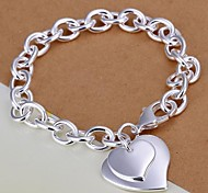 Beautiful and Fashionable Plating Ms 925 Silver Bracelet Heart Center