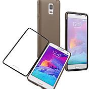 materiali di TPU sul design touch screen a conchiglia per Samsung Galaxy Note 4