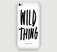 iPhone 4/4S/iPhone 4 - Cover-Rückseite - Spezielles Design/Neuartig/Kühle Wort / Phrase ( Mehrfarbig , Kunststoff )