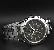 chenxi cinturino in acciaio tre cruscotto orologio al quarzo affari classico inossidabile