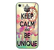 Keep Calm and Be Unique Design Hard Case for iPhone 4/4S