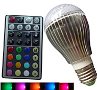 Bombillas Globo Regulable/Control Remoto/Decorativa SchöneColors B E26/E27 9 W 3PCS LED de Alta Potencia RGB LM RGB AC 85-265 V 1 pieza