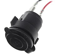 12V Waterproof Motorcycle Cigarette Lighter Charger Power Socket (Black)