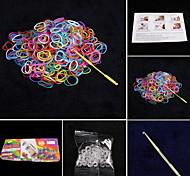 set color arcobaleno stile telaio (600pcs bande, 1 confezione c o s clip, 1 gancio, 1 telai)