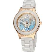 Women's Ceramic Watch Dolphin Free Second Hand Vintage Bracelet Quartz Analog Wrist Watches Sparkle Rose Gold