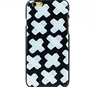 White Cross in Black Pattern Case for iPhone 6