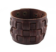 Cheap Wide Braided Leather Bracelet