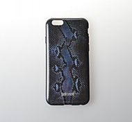 Blue Snakeskin Pattern Pattern TPU Soft Cover for iPhone 6