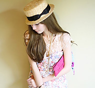 Women's Vintage/Casual Bowknot Summer Straw Fedora Hat