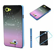 2-in-1 Dandelion Realize Dream Pattern TPU Back Cover with PC Bumper Shockproof Soft Case for Xperia E3