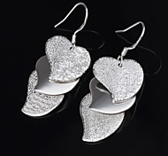 Women's Earrings Fashion Titanium Heart Shaped Pendent Pierced Alloy Handmade Earrings
