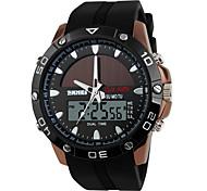 SKMEI Мужской Спортивные часы электронные часы Секундомер С двумя часовыми поясами Солнечная энергия Цифровой Группа Люкс
