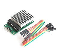 MAX7219  8*8 Dot Matrix Serially Interfaced 8-Digit LED Display Driver for Arduino