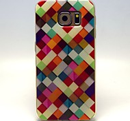 For Samsung Galaxy Case Pattern Case Full Body Case Geometric Pattern PU Leather Samsung S6