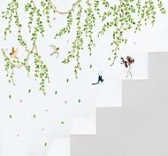 ботанический Мультипликация люди Наклейки Простые наклейки Декоративные наклейки на стены,Винил материал Влажная чистка СъемнаяУкрашение