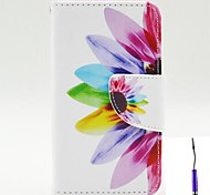 Beautiful Petals Pattern PU Leather Case Cover with A Touch Pen ,Stand and Card Holder for Nokia Lumia 530