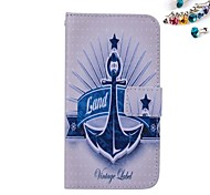 Large Anchor Pattern PU leather Full Body Case Dustproof Plug With Card Slot and Stand for Motorola G2