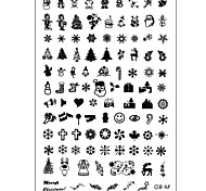 Nail Art Stamp Stamping Image Template Plate Christmas Series OB-M