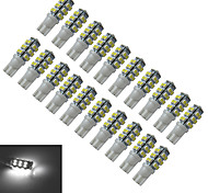 JIAWEN® 20pcs T10 1.5W 25X3528SMD 100LM 6000-6500K Cool White LED Car Light (DC 12V)