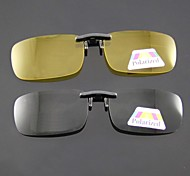Polarized Rectangle Clip-on Sunglasses Lenses