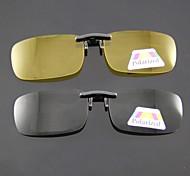 rectángulo polarizada clip lentes de las gafas de sol