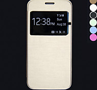DF Touch View Flip Back Transparent Full Body Case for Samsung Galaxy S6 edge