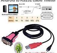micro usb a rs232 con almohadilla teléfono Android potencia a cable del dispositivo RS232 (100cm)