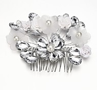 Women's/Flower Girl's Alloy/Imitation Pearl/Acrylic Headpiece - Wedding/Special Occasion Hair Combs/Flowers
