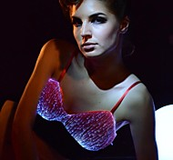 Women's Sexy Fiber Optic Remote Control Multicolors Led Luminous Party/Fashion Show Bra