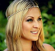 Bohemian Pearl Head Chain Jewelry Forehead Dance Headband