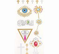 1PC New Gold Tattoos Cross love Temporary Tattoos Flash Tattoos Cuticle Tattoos Wedding Party Tattoos(25*10.5cm)