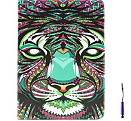 The Lion Pattern PU Leather Case Cover with A Touch Pen ,Stand and Card Holder for iPad Air