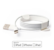re&s IMF certificada 8 pin de datos USB de sincronización / cable de carga para el iPhone 7 6s 6 Plus SE 5s 5 (120 cm)