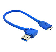 Right Angled 90 Degree USB 3.0 A male to Micro USB 10pin Cable for Macbook Laptop & Hard Disk