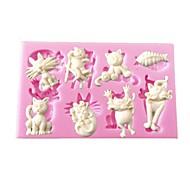 мини-мультфильм животных формы сома силиконовые формы для кексов украшения шоколадных искусств&ремесла
