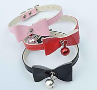 Red/Black/Pink Retractable/Cosplay PU Leather Collars For Dogs/Cats