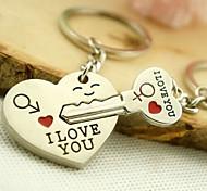 keychain chaveiro casamento romântico para o dia dos namorados amante (um par)