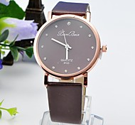 Ladies Fashion Drill Round Belt Chinese Movement Watch(Assorted Colors)