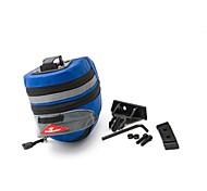 Bicicleta Saddle Bag ( Rojo/Negro/Azul , Ripstop 600D , 5 L)  Impermeable/A prueba de lluvia/Cremallera a prueba de agua/Compacto Ciclismo