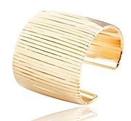 Fashion Exaggerate Punk Gold Alloy Cuff Bracelets(1pc)